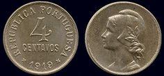 4 Centavos , Cupro Níquel, entrada em circulação 1917