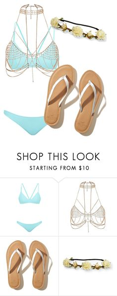 """Beach Day"" by xhayleyxo on Polyvore featuring Bower, River Island, Hollister Co. and Aéropostale"