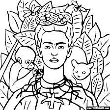 Resultado de imagen para obras de frida kahlo para colorear