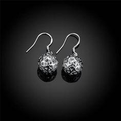 Boucles d'oreilles Pendantes - Grelot Coeur <3