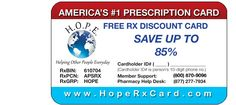 Consumer assistance website with a free discount prescription card that can be printed from the website and more help for consumers looking for lower prices on medications. Free Discount Prescription Cards Printable, Use At Most Pharmacies, As Much As 85% Off, No fees. Never Expires, No age, health or income requirements. Discounts on pet medications and flu shots, some other injections, some lab tests and some medical imaging.