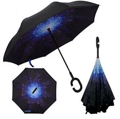 Self Standing Inverted UmbrellaOmpakey Double Layer Reverse Folding Windproof UV Protection Cars Outdoor Reversible Umbrella With CShaped Handle >>> Read more  at the image link.Note:It is affiliate link to Amazon.