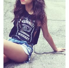DIY INSPIRATIONAL IMAGE: Jack Daniels Deep Cut Side Muscle Tank ($35)