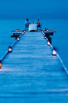 Dining on the Pier at Jean-Michel Cousteau Resort is an experience you will always savour.  Listen to the gentle waves and partake in the finest gourmet cuisine for your romantic dinner for two.