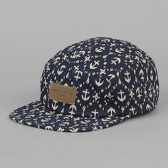 Obey Native 5 panel Cap Navy Anchor 53f73b31149