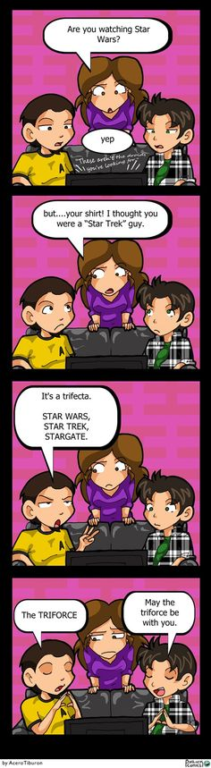Trifecta of scifi Stars - Star Wars, Star Trek and Stargate << Guess I'll have to watch Stargate too