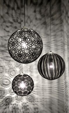 Kat & Ibin gorgeous crochet lamp set in black. www.katandibin.com