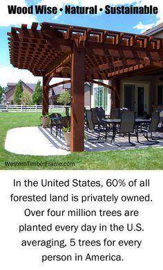 Wood facts from WesternTimberFrame.com. Pergolas, pavilions, gazebos, arbors, trellises, swings and more!