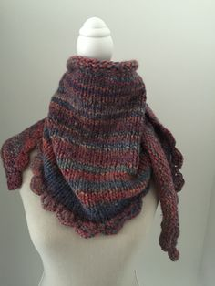 Chal punto jersey terminado con crochet