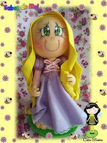 Minha versão de Rapunzel personagem do filme Enrolados.