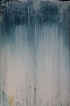 "Koen Lybaert; Oil, 2013, Painting ""abstract N° 664 [rain]"""