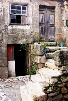 Scene from the old village - Linhares da Beira, Guarda, Portugal