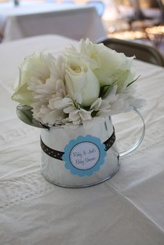 Centerpiece/table decor for baby shower