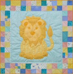 Meet Leo the Lion - A big cat baby quilt pattern! The quilt pattern is available exclusively through my site here: http://www.victorianaquiltdesigns.com/VictorianaQuilters/PatternPage/Stuffies/LeotheLion.htm  #quilting #baby #stuffies