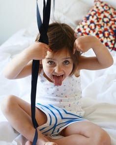 La plus belle grimace // child, girl, fun, pyjama Pajama Party, Homemade Cakes, Colorful Decor, How To Memorize Things, Pajamas, Children, Fun, France, Instagram