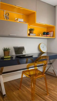 Modern Study Table Design We will continue to share the most beautiful and newest home decorations w Study Table Designs, Office Table Design, Study Room Design, Small Room Design, Home Office Design, Home Office Decor, Home Interior Design, House Design, Home Decor