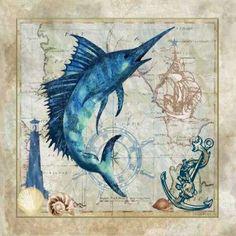 CUADROSTOCK.COM Tienda online de cuadros.Nautical Swordfish