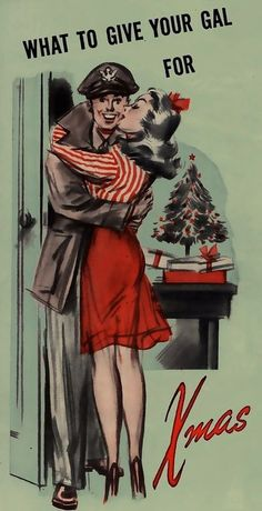 www.girlinthejitterbugdress.com vintage novel and blog loves this #1940s #Christmas #kiss #WWII