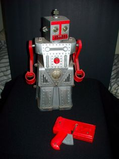 Robert Robot w Controller Vintage 1955 Ideal Mid Century Sci Fi Outer Space Toy | eBay