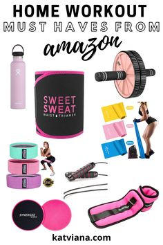 13 home gym must haves that are perfect for small spaces whether you are a beginner or if you've been working out for years. These are the best weights and gym essentials to help you get started on your fitness journey. Amazon Buy, Amazon Home, Amazon Deals, Home Gym Equipment, No Equipment Workout, Fun Workouts, At Home Workouts, Workout Clothing, Fitness Clothing
