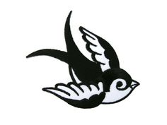 SWALLOW Rockabilly Biker Tattoo  Embroidered Applique Iron on Patch
