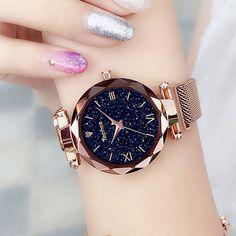 Luxury Women Watches Magnetic Starry Sky Female Clock Quartz Wristwatch Fashion Ladies Wrist Watch reloj mujer relogio feminino - To buy again Stylish Watches, Watches For Men, Wrist Watches, Ladies Watches, Cheap Watches, Women's Watches, Luxury Watches Women, Girl Watches, Female Watches