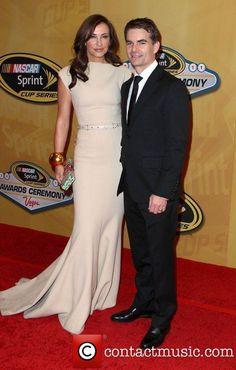 Jeff Gordon and his beautiful wife, Ingrid