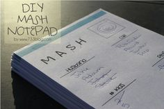 Print a whole stack of MASH sheets to play throughout the night. | 23 Badass Ideas For A Grown-Up Slumber Party