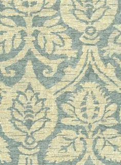 """Waverly Fabric --> Waverly Spa and Brown --> Damask Duet Robins Egg Textured Linen and Rayon damask pattern by Waverly. Ideal for drapery or upholstery. Repeat: H 9 V 16. 54"""" wide. 670583"""