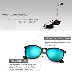 SUNGAIT Vintage Round Sunglasses for Women Classic Retro Designer Style Lightweight Composite frame lens non-polarized Check more [product_price] Round Face Sunglasses, Cheap Sunglasses, Polarized Sunglasses, Mirrored Sunglasses, Sojos Sunglasses, Ray Ban Lenses, Online Shopping For Women, Sunglass Frames, These Girls