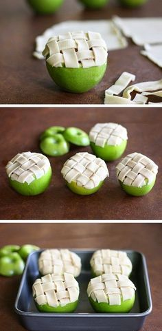 Apple pie baked in an apple! Mini apple pies!