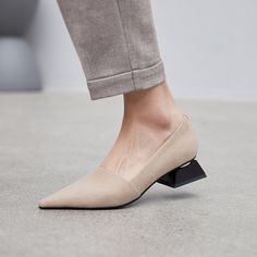 Erling Sculptural Heel Pumps Chiko Erling Sculptural Heel Pumps feature pointy toe, easy slip on and off, block heels with rubber sole.Chiko Erling Sculptural Heel Pumps feature pointy toe, easy slip on and off, block heels with rubber sole. Low Heel Shoes, Pumps Heels, Stiletto Heels, High Heels, Flats, Block Heel Loafers, Heeled Loafers, Block Heels, Pointed Toe Loafers