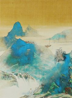 Excellent Chinese Scroll Painting of Landscape By Zhang DaQian