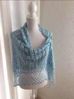 Sjaal/stola lichtblauw