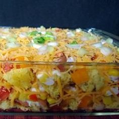 Cornbread Salad...I make this for my team...it's always a HIT!