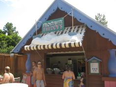 Frostbite Freddy's Frozen Freshments annette@wishesfamilytravel.com Disney World Water Parks, Walt Disney World, Blizzard Beach, Frozen, Outdoor Decor