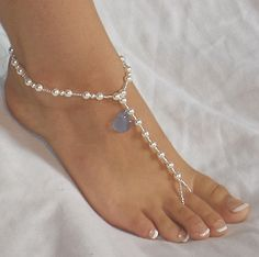 Items similar to Sea Splendor Swarovski Pearl and Authentic Sea Glass Beach Wedding Barefoot Sandals on Etsy Wedding Shoes, Wedding Jewelry, Soleless Sandals, Ankle Jewelry, Women's Feet, Bare Foot Sandals, Swarovski Pearls, Anklets, Barefoot