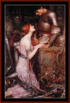 WA-40 - Lamia and the Soldier, 1905 - All cross stitch patterns - Groups & Figures - Mythology - - Pre-Raphaelite - Waterhouse - Cross Stitch Collectibles