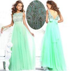 Vestidos de fiesta color verde menta