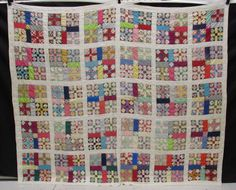 Vintage Hand-Sewn Patchwork Quilt Size 85x73 - shopgoodwill.com