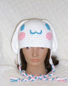 Crochet Cinnimaroll Earflap Beanie Hat - Picture Idea