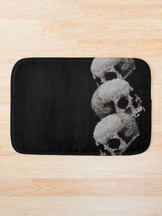 Skulls' Bath Mat by Ikaroots Floor Pillows, Throw Pillows, Canvas Prints, Art Prints, Wall Tapestry, Duvet Covers, Classic T Shirts, Skeletons, Tapestries