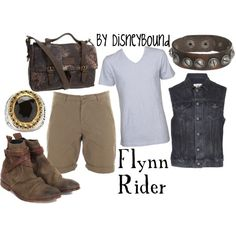 Male Flynn Rider from Tangled DisneyBound Disney Dress Up, Disney Clothes, Hot Clothes, Style Clothes, Pretty Clothes, Disney Inspired Fashion, Disney Fashion, Men's Fashion, Disney World Outfits