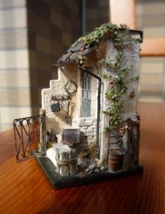 Miniature dollhouse... I think I might be able to do this! Just pick a small section and go crazy with the detail. <3
