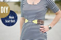 how to make a scarf belt