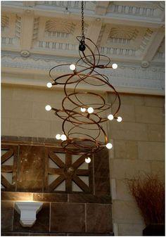 Sculptural Steel Chandelier by Jessica K Bodner Wrought Iron, Old World, Entryway, Chandelier, Ceiling Lights, Sculpture, Steel, Contemporary, Lighting