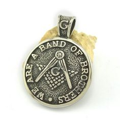 stainless steel we are a band of brothers mason pendant