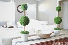 Fancy pants topiaries (assuming you can find moss). | 31 Cheap And Brilliant Dollar Store Hacks