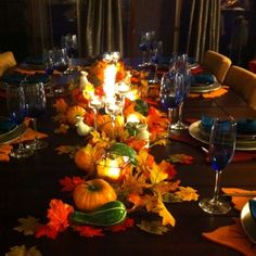 Thanksgiving Table Decorations | Thanksgiving table | Autumn ideas