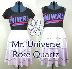 Rose Quartz Universe Steven Universe Skater Dress by MinZPrint
